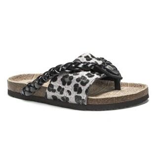 Muk Luks Women's Black Elaine Sandals