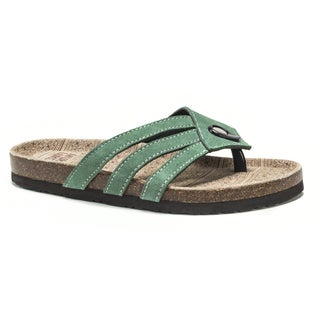 Muk Luks Women's Green Francis Sandals