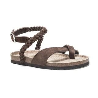 Muk Luks Women's Brown Estelle Sandals