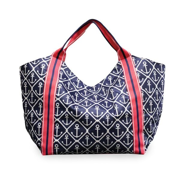 All For Color Classic Anchor Beach Tote