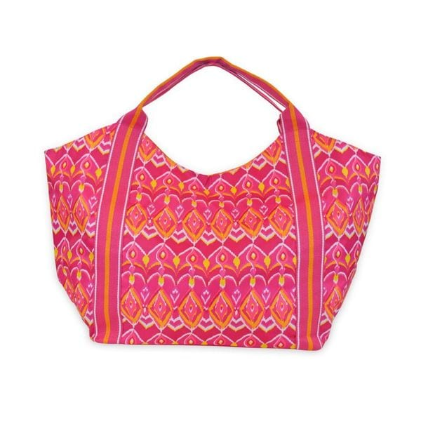All For Color Sunrise Ikat Beach Tote