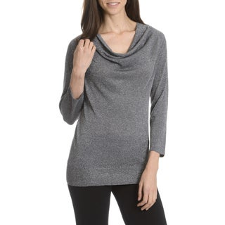 Sunny Leigh Women's Shimmer Cowl Neck Top