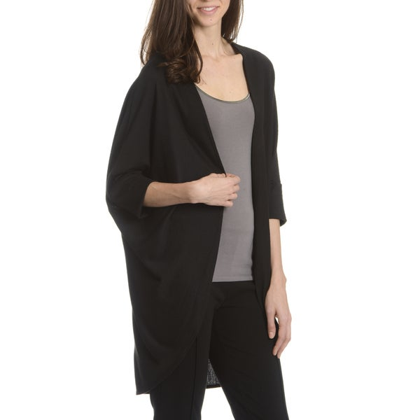 Sunny Leigh Women's Solid Dolman Sleeve Cardigan