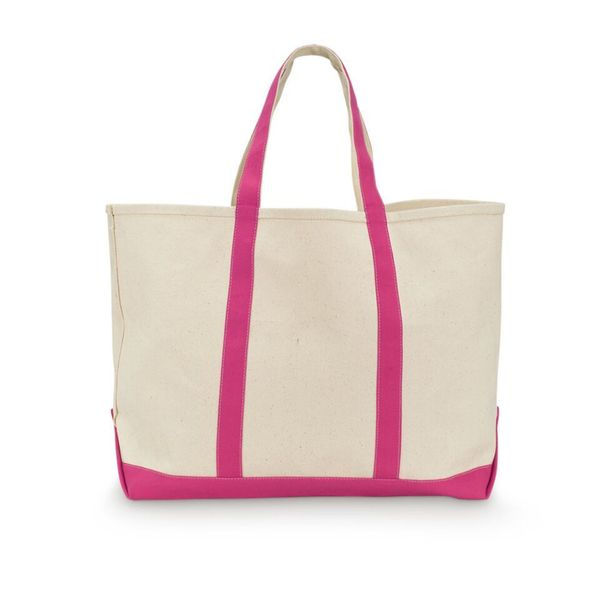 All For Color Pink Watermelon Canvas Tote Bag