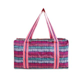 All For Color Tribal Stripe Square Duffle