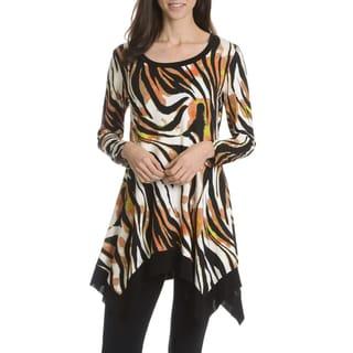 Sunny Leigh Women's Printed Zebra Stripe Tunic