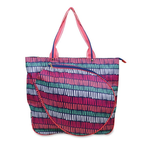 All For Color Tribal Stripe Tennis Tote