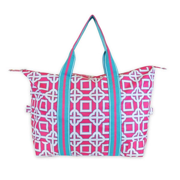 All For Color Pink Charmer Travel Tote
