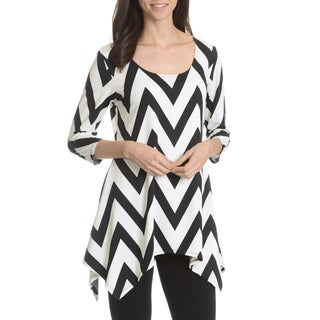 Sunny Leigh Women's Chevron Printed Tunic