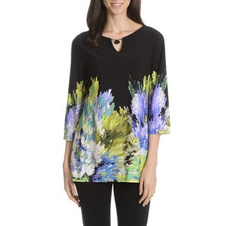 Sunny Leigh Women's Paintbrush Printed Tunic