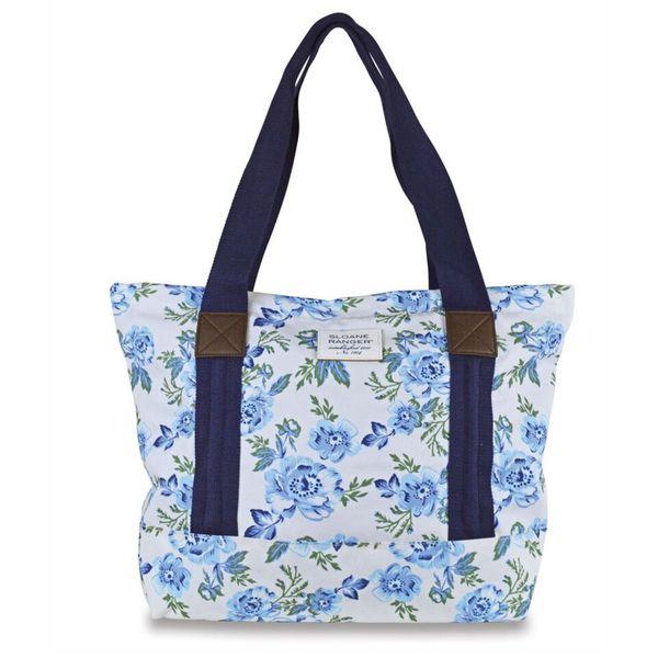 Sloane Ranger Vintage Floral Canvas Tote Bag