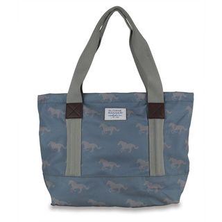 Sloane Ranger Grey Horse Canvas Tote Bag