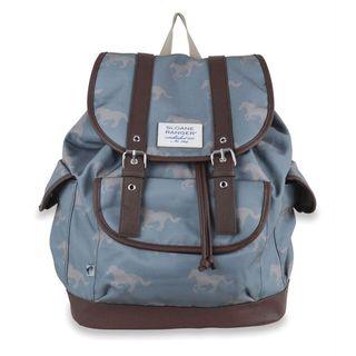 Sloane Ranger Grey Horse Slouch Backpack
