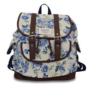 Sloane Ranger Vintage Floral Slouch Backpack