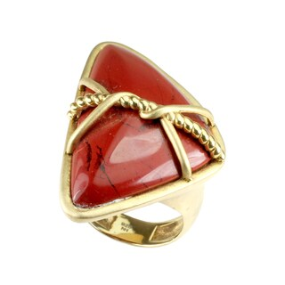 One-of-a-kind Michael Valitutti Sterling Silver Red Jasper Ring