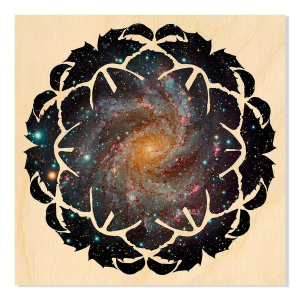 Kaleidoscope Skies, in White V Print by New Era Original on Birchwood Wall Art