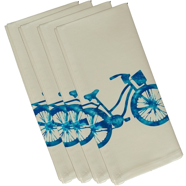 Life Cycle 22-inch Geometric Print Napkins (Set of 4)