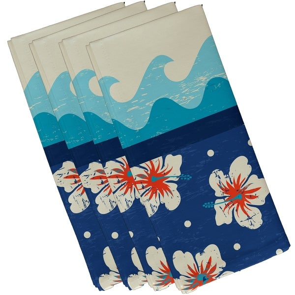 Hang Ten Floral Print 10-inch Napkins (Set of 4)