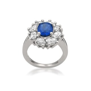 MONTEBELLO JEWELRY Platinum Sapphire and Diamond 6.5ct TGW Oval-cut Certified One-of-a-Kind Ring (H-I, VS1-VS2)