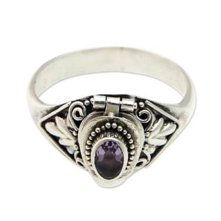 Sterling Silver 'Mysterious Garden' Amethyst Ring (Indonesia)