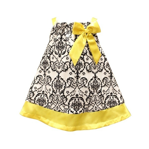 Mia Juliana Pasley Flocked Knit Dress With Shantung Band And Bow