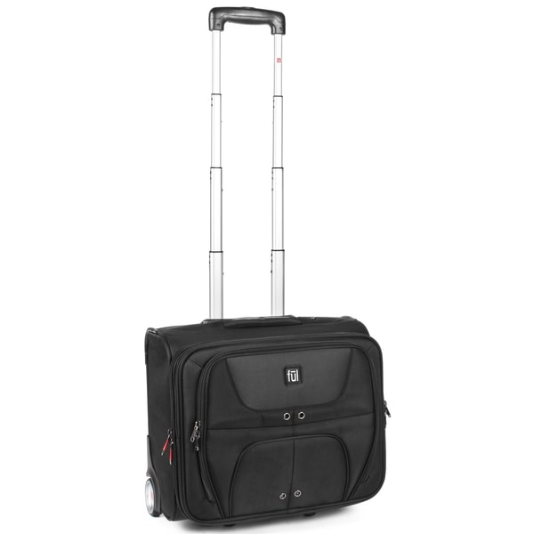 Ful Alliance Black Rolling Carry-On 17-inch Laptop Tote