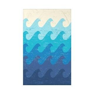 Deep Sea 50 x 60 Geometric Print Throw Blanket
