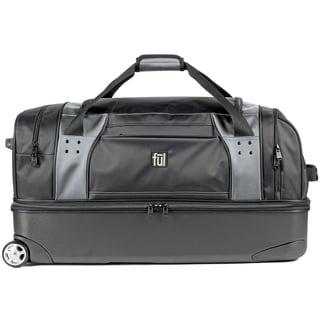 Ful Workhorse Black and Grey 30-inch Drop-Bottom Rolling Duffel Bag