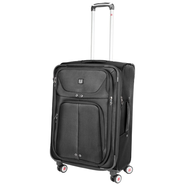 Ful Alliance Black 24-inch Spinner Upright Suitcase