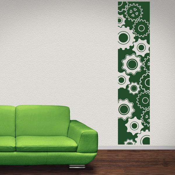 Gears Strip Vinyl Sticker Wall Decor