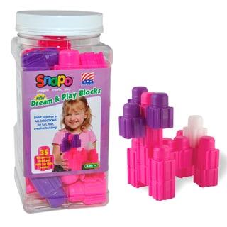 SNAPO 35-Piece Pink Big Blocks Set