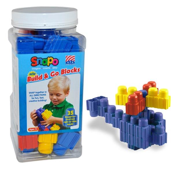 SNAPO 35-Piece Blue Big Blocks Set