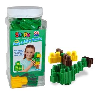 SNAPO 35-Piece Green Big Blocks Set