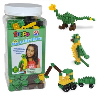 SNAPO 277-Piece Snap and Play Blocks