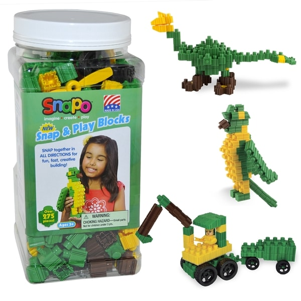 SNAPO 277-Piece Snap and Play Blocks 16684122