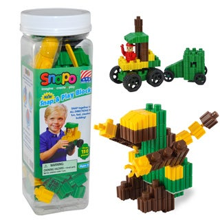 SNAPO 151-Piece Snap and Play Blocks