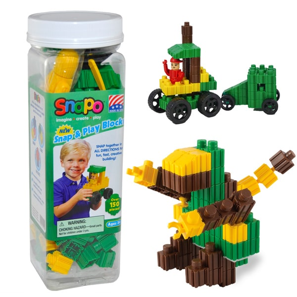 SNAPO 151-Piece Snap and Play Blocks 16684127