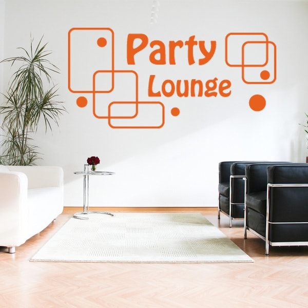 Party Lounge Vinyl Sticker Wall Decor