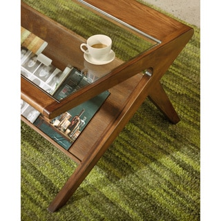 Ink and Ivy Rocket Coffee Table with Tempered Glass