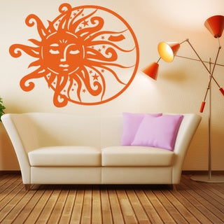 Sun and Moon Vinyl Sticker Wall Decor