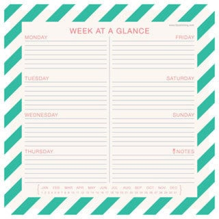 Nautical Weekly Desk Pad