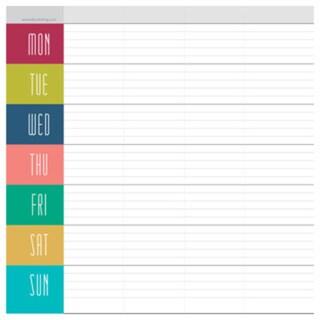 Vivid Weekly Desk Pad