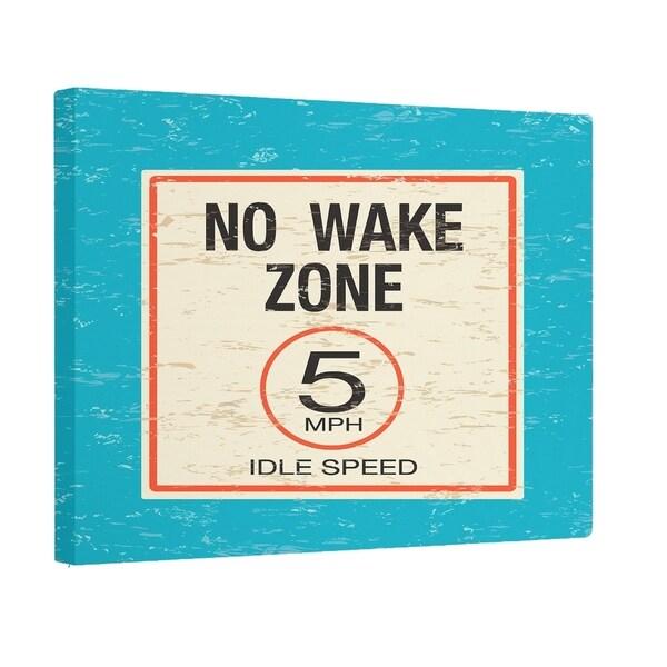 No Wake Wood Print 24 x 36-inch Outdoor Wall Art