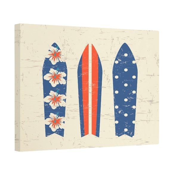 Triple Surf Print 12-inch Wall Art