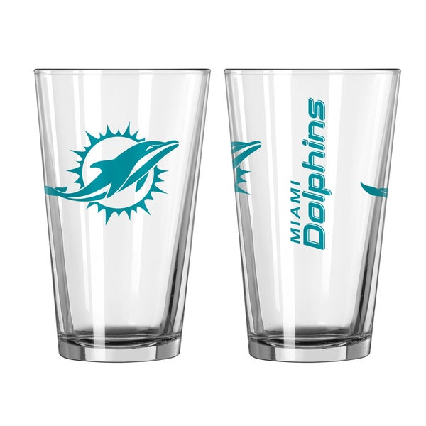 Miami Dolphins Game Day Pint Glass 2-Pack 16685155