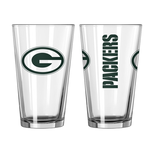 Green Bay Packers Game Day Pint Glass 2-Pack