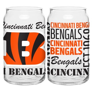 Cincinnati Bengals 16-Ounce Glass Spirit Glass Set