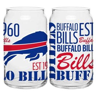 Buffalo Bills 16-Ounce Glass Spirit Glass Set