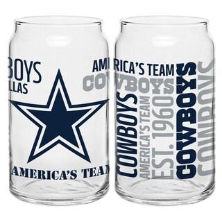 Dallas Cowboys 16-Ounce Glass Spirit Glass Set