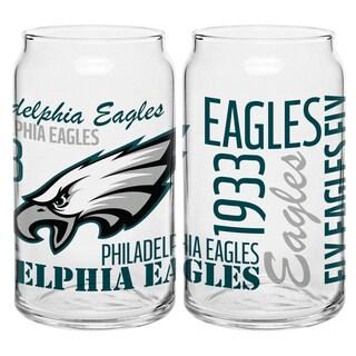 Philadelphia Eagles 16-Ounce Glass Spirit Glass Set